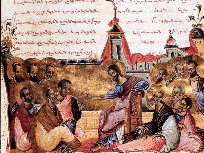 cristo con discepoli