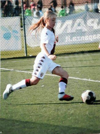 Martina, 14 anni, in forza nel team del Torino calcio