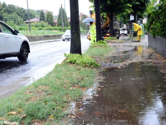 Più di 50 mm di pioggia in poche ore, allagamenti ad Alba e nell'albese