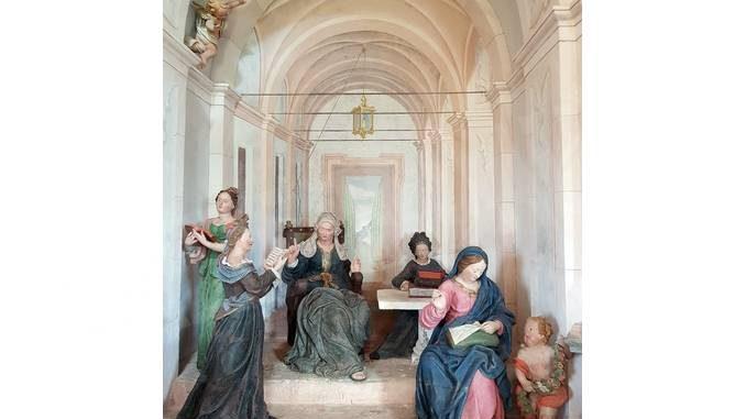 Restaurati affreschi e statue al sacro monte di Oropa