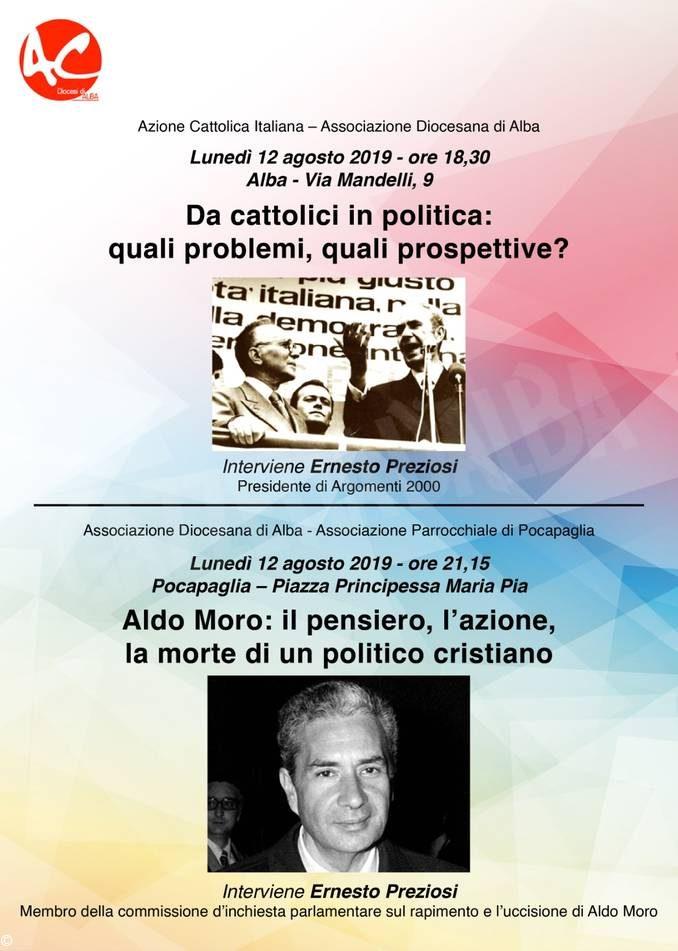 Incontri ad Alba e Pocapaglia sulla figura di Aldo Moro
