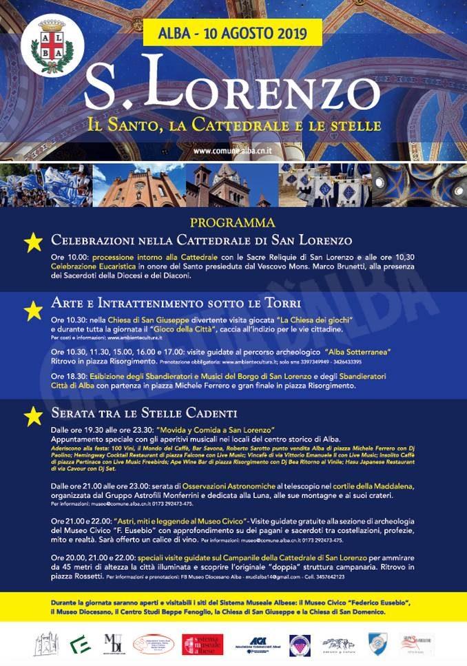 10 agosto, San Lorenzo: i festeggiamenti patronali della città di Alba