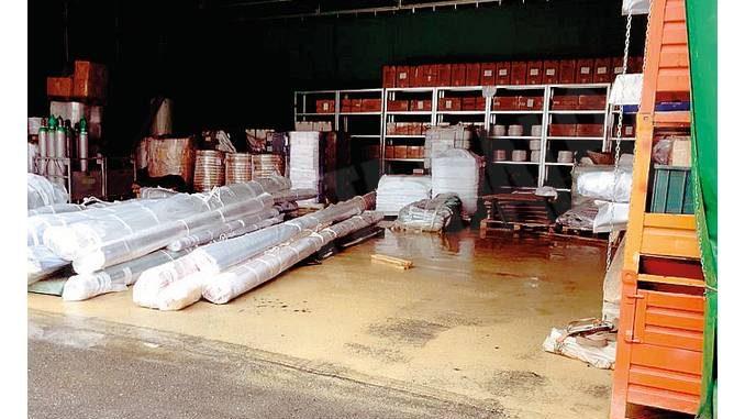 A ogni temporale i capannoni della Giesse di Castellinaldo vengono allagati