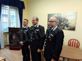 Nuovi comandanti dei carabinieri: si presentano il colonnello Del Gaudio e il capitano Caputo
