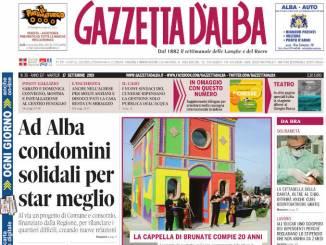 La copertina di Gazzetta d'Alba in edicola martedì 17 settembre 1