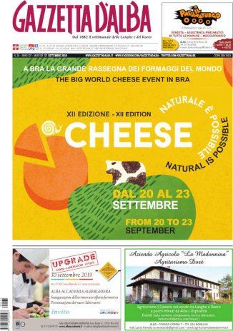 La copertina di Gazzetta d'Alba in edicola martedì 17 settembre