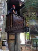 Volontari e restauratori al lavoro nella chiesa di San Giuseppe ad Alba 2