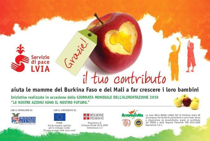 Lvia offre le mele solidali per aiutare le mamme del Burkina Faso e del Mali