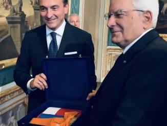 Cirio ha regalato una bandiera del Piemonte al Presidente della Repubblica Mattarella