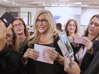 Mara Venier inaugura i due primi temporary shop di Luisa Viola