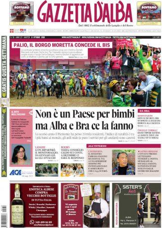 La copertina di Gazzetta d'Alba in edicola martedì 8 ottobre