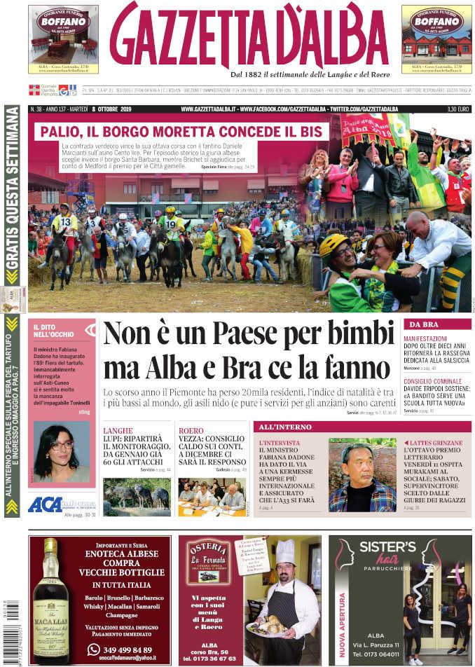Prima_pagina_Gazzetta_Alba_38_19