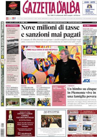 La copertina di Gazzetta d'Alba in edicola martedì 29 ottobre