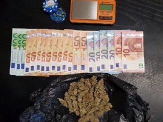 I carabinieri di Marene fermano diciassettenne con 27 grammi di Marijuana e 1.000 euro frutto dello spaccio