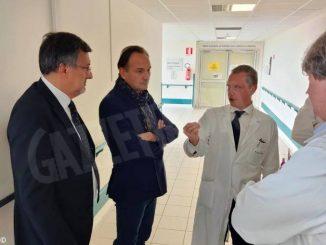 Cirio e Icardi a Mondovì per i dieci anni dell'ospedale. Vistato anche il nosocomio di Ceva
