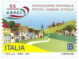 Un francobollo per i 20 anni dell'Associazione nazionale dei piccoli Comuni