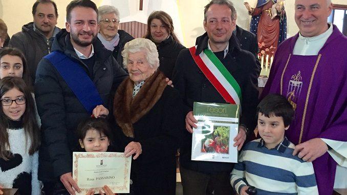 A San Damiano l'ultimo saluto alla centenaria Rosa Passarino