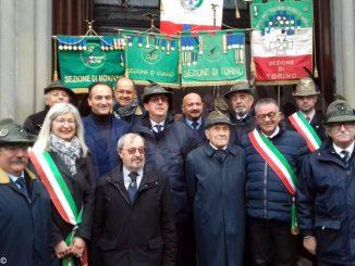 Festa a Carmagnola per i 103 anni dell'alpino Giovanni Alutto 1