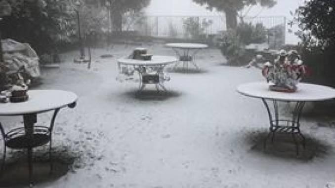 Iniziata la nevicata sulle Langhe
