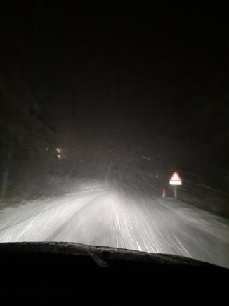 Iniziata la nevicata sulle Langhe 1