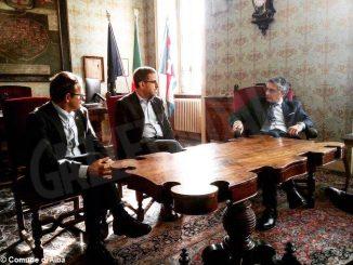 Nuova legge sul tartufo, il sindaco di Alba Carlo Bo incontra il Senatore Francesco Mollame
