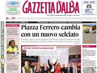 La copertina di Gazzetta d'Alba in edicola martedì 12 novembre