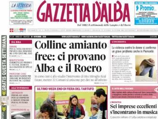 La copertina di Gazzetta d'Alba in edicola martedì 19 novembre