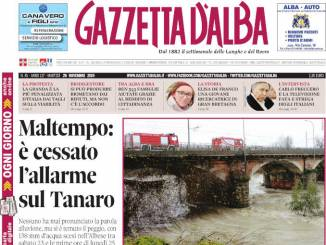 La copertina di Gazzetta d'Alba in edicola martedì 26 novembre