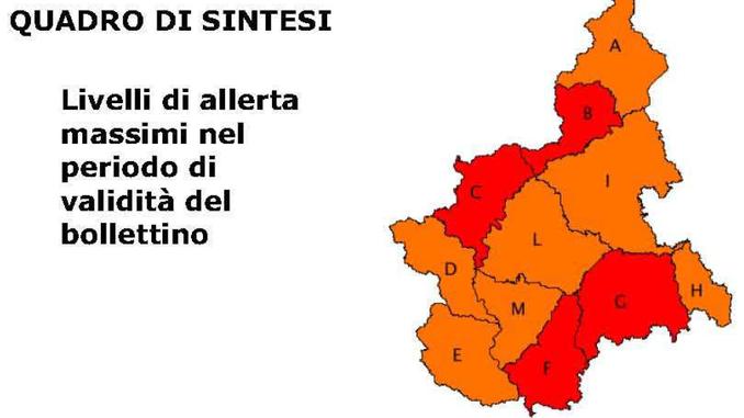 Maltempo: per le valli Tanaro e Belbo l'allerta regionale diventa rossa