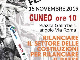 Domani il settore delle costruzioni manifesta in piazza Galimberti a Cuneo