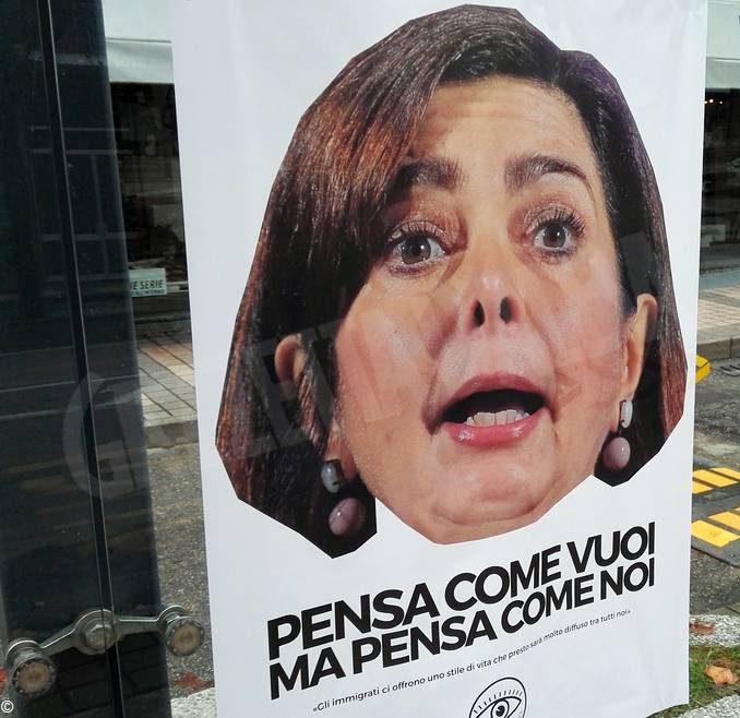 Anche ad Alba affissi manifesti anonimi contro l'immigrazione
