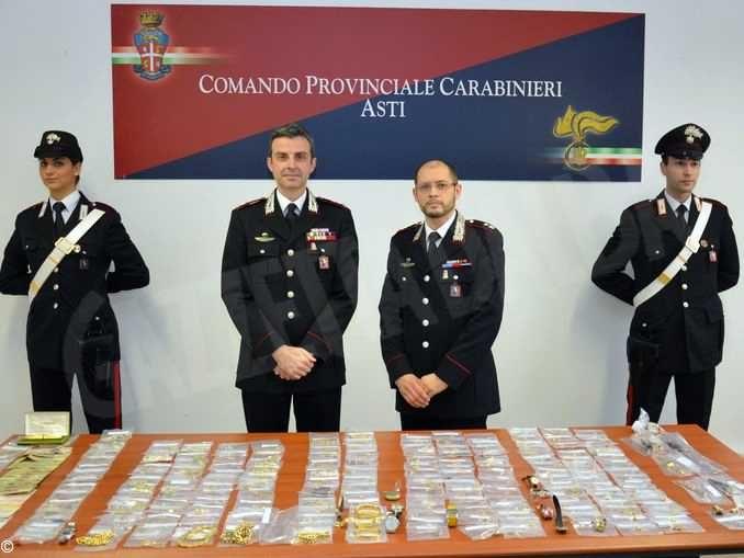 Sequestrati 110mila euro di oro e preziosi a nucleo familiare di etnia sinti di Asti 1