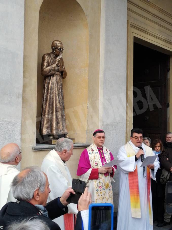 Inaugurata la statua di don Alberione al santuario della Madonna dei fiori di Bra