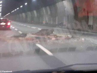 Crolla la volta di una galleria sull'autostrada A26