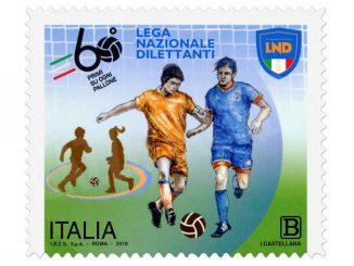 Calcio: Poste dedica un francobollo alla Lega nazionale dilettanti