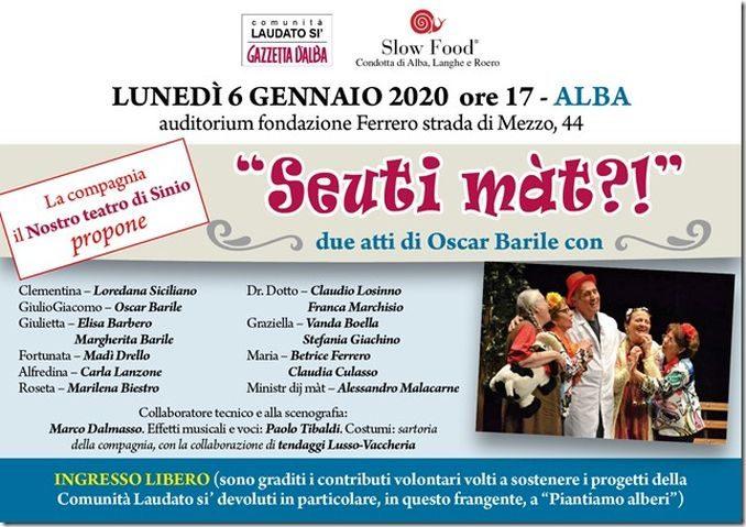 Spettacolo teatrale per la comunità Laudato si' azzetta d'Alba e il progetto Piantiamo alberi