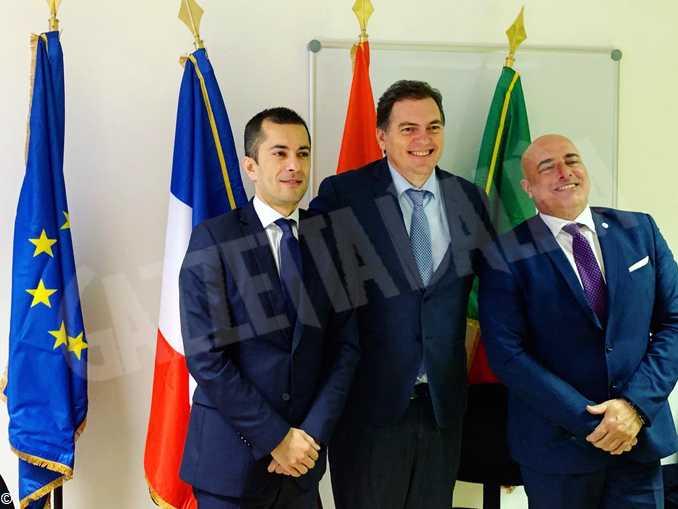 Assessore Gabusi- vicepresidente Regione Sud Philippe Tabarot-Assessore Berrino