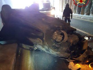 In gravi condizioni un uomo di 36 anni rimasto coinvolto in un incidente automobilistico
