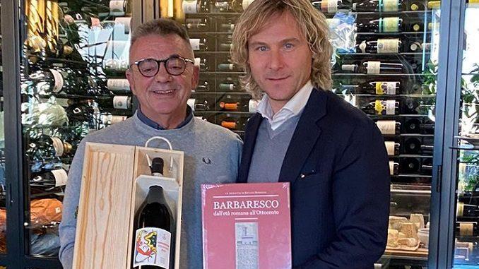 Il vicepresidente della Juventus Pavel Nedved a pranzo a Barbaresco