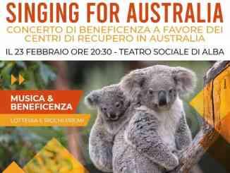 Singing for Australia, concerto di beneficenza il 23 febbraio al Teatro di Alba