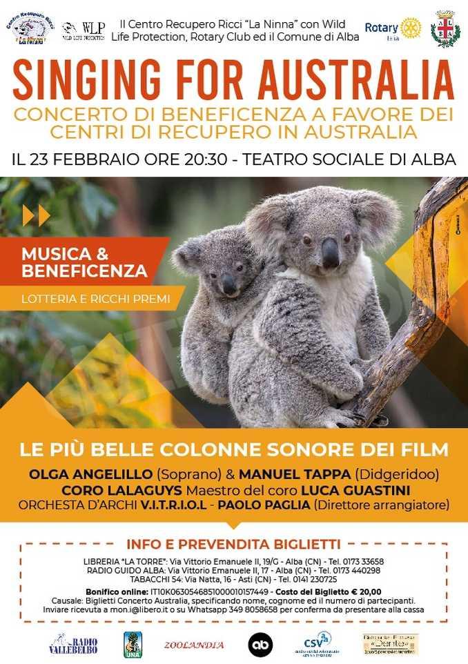 SINGING FOR AUSTRALIA-LOCANDINA