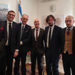 Incontro a Roma dell'ambasciatore d'Israele Dror Eydar  con il professor Beppe Ghisolfi