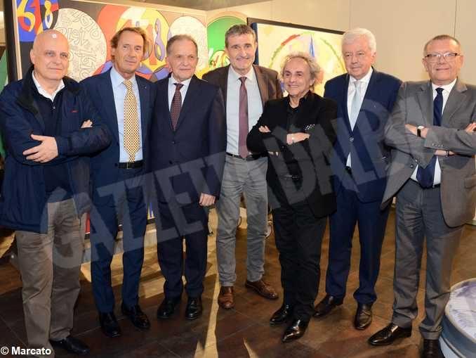 Grande successo della mostra di Ugo Nespolo in Banca d'Alba 1
