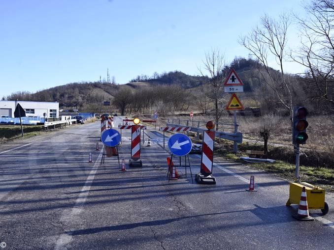 lavori ponte Corneliano
