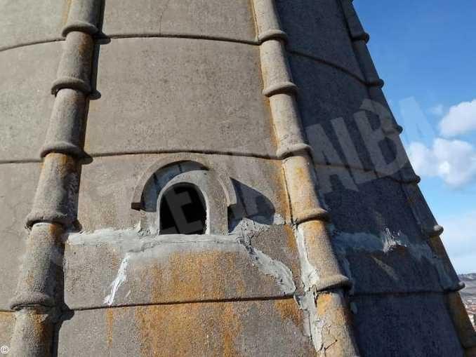 Danni alla torre del santuario della Moretta, cade un calcinaccio. Sospeso l'uso delle campane 1