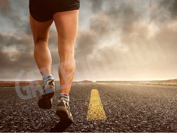 Corridore strada atletica corsa