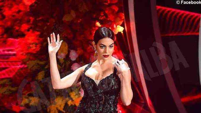 Georgina Rodriguez sul palco di Sanremo con abiti cuneesi