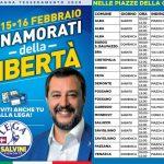 La Lega Salvini raccoglie tessere e firme per il maggioritario
