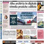 La copertina di Gazzetta d'Alba in edicola martedì 18 febbraio