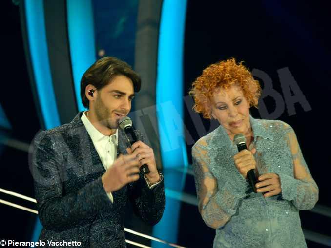 Sanremo2020-Alberto Urso e Ornella Vanoni